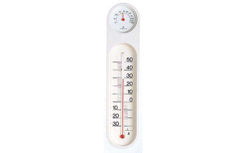 温湿度計  PCオーバル  ホワイト