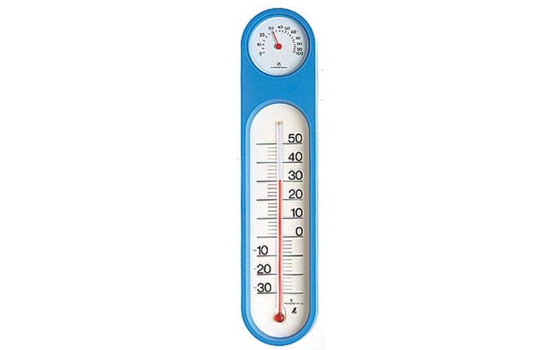 温湿度計  PCオーバル  ブルー