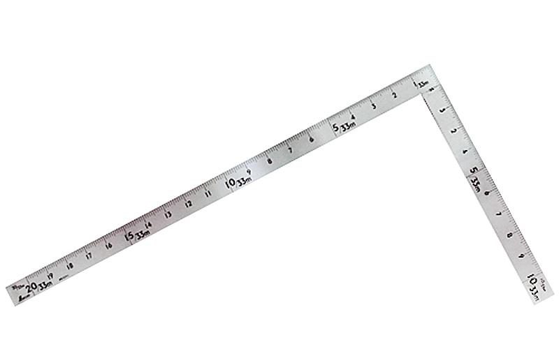 曲尺中金普及型  ステン  2×1尺  表裏同目