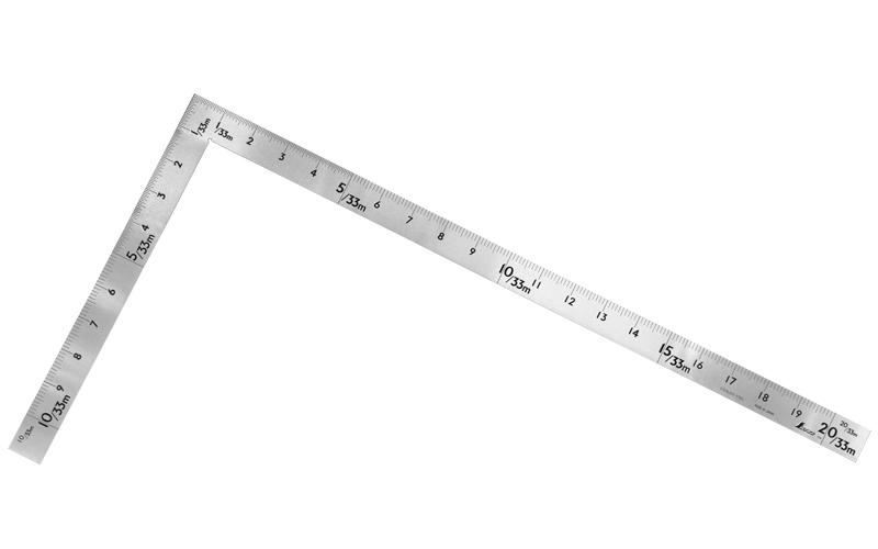 曲尺中金普及型  ステン  60㎝/2尺  併用目盛