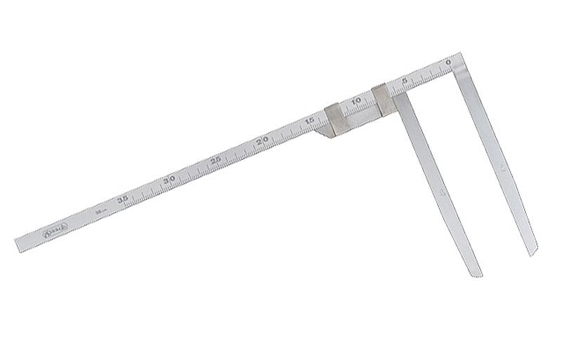 材木尺  ステン  35㎝  表2㎜・裏1㎜目盛