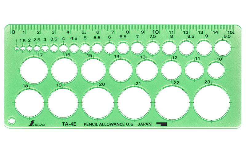 テンプレート  TA-4E  円定規  エッジ付(小)