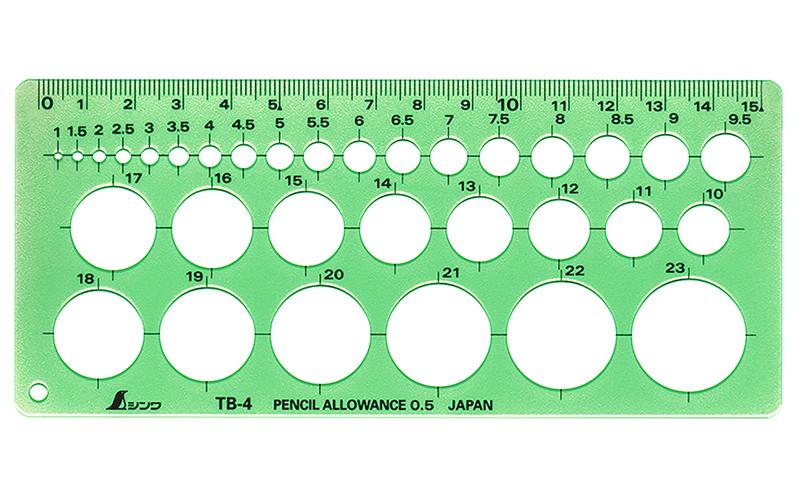 テンプレート  TB-4  円定規(小)