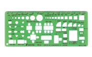 テンプレート  TD-2  家具記号定規(小)1/100