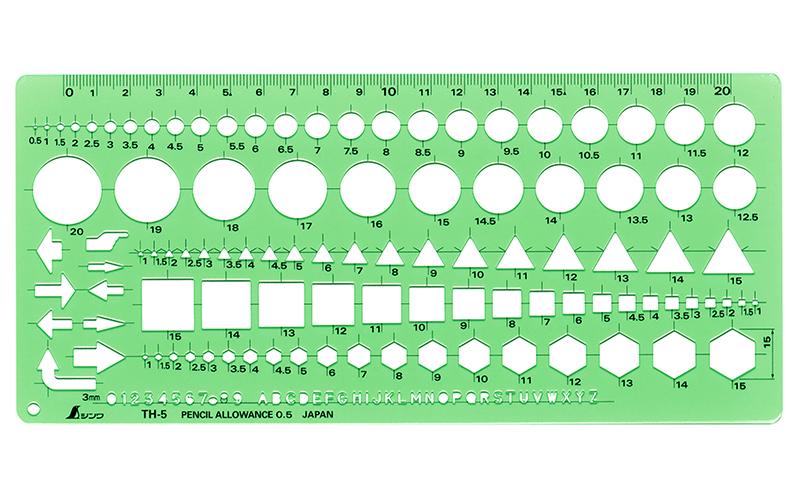 テンプレート  TH-5  一般総合定規(中)