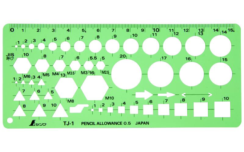 テンプレート  TJ-1  ボルトナット定規