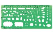 テンプレート  TL-1  矢線記号定規