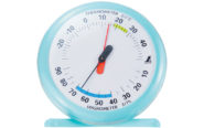 温湿度計  Q-1  丸型  15㎝  ライトブルー
