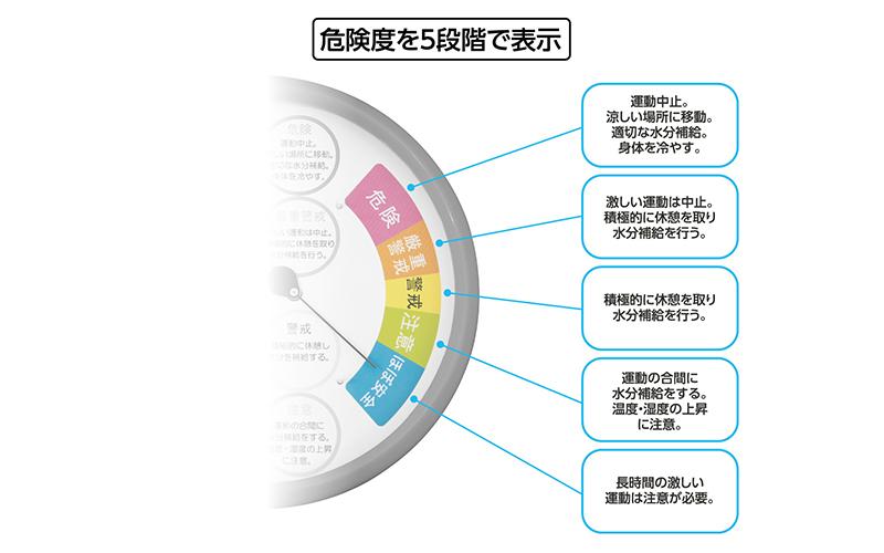 温湿度計  F-3LⅡ  熱中症注意  丸型  15㎝  レッド  防雨タイプ