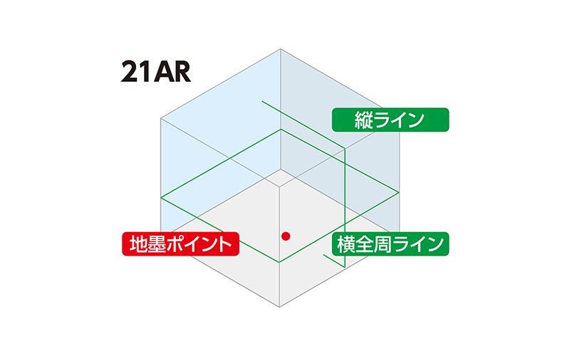 レーザーロボ  LEXIA  21ARグリーン  受光器・三脚セット
