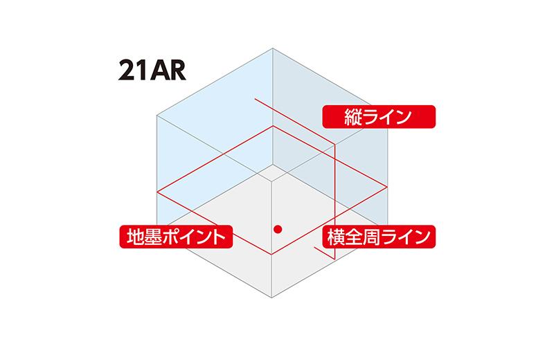 レーザーロボ  LEXIA  21ARレッド  受光器・三脚セット