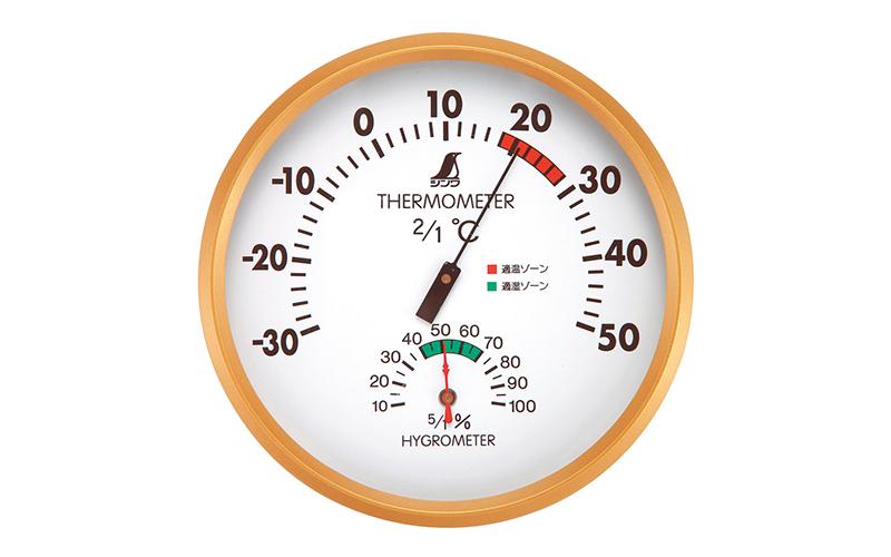 温湿度計  F  丸型  15㎝