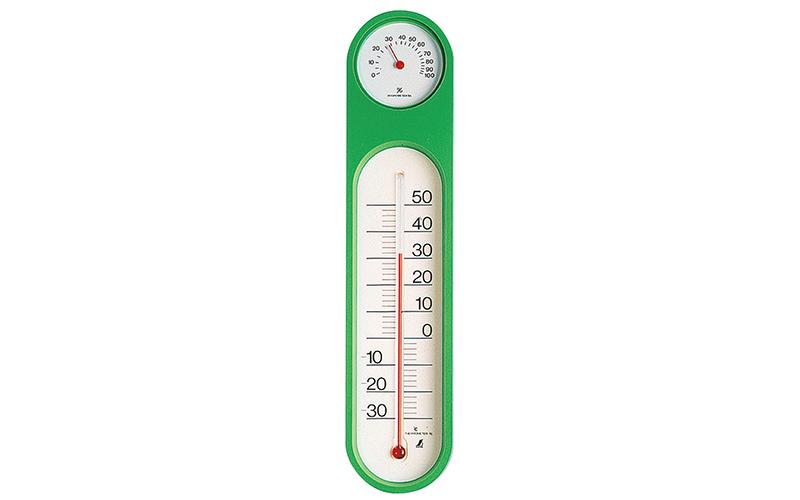 温湿度計  PCオーバル  グリーン