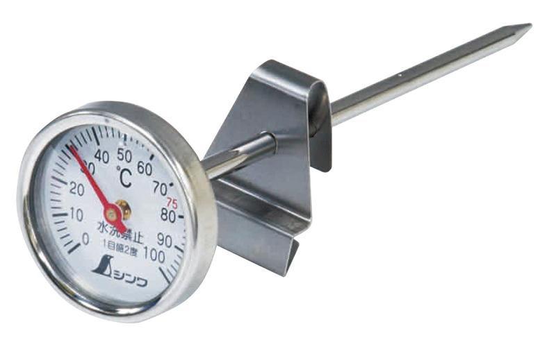温度計  V-1  丸T字型  0~100℃  φ3.5×13㎝  調理用