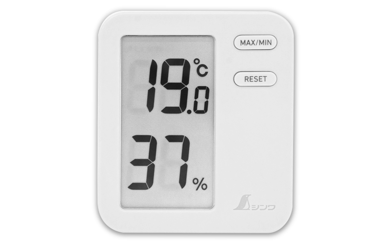 デジタル温湿度計  Home  Aホワイト  クリアパック