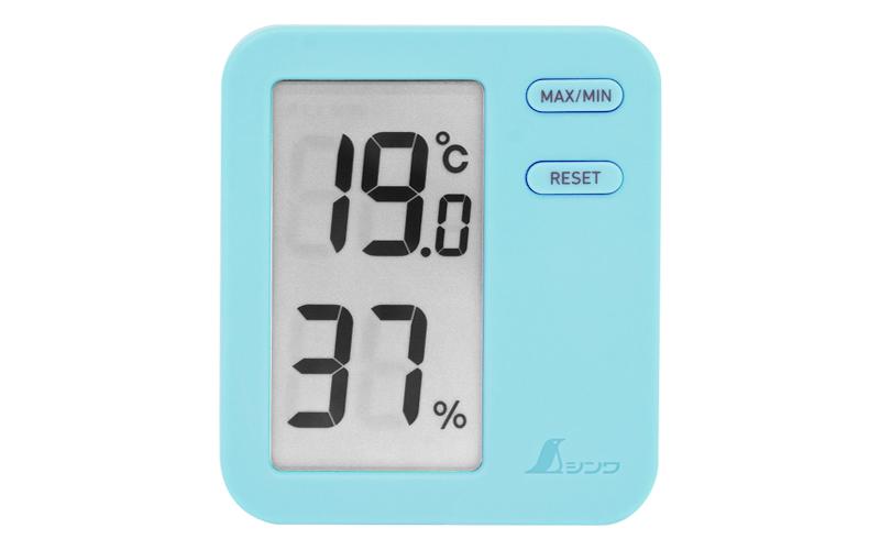 デジタル温湿度計  Home  A  ブルー  クリアパック