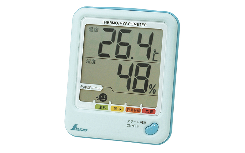 デジタル温湿度計  D-1  熱中症注意  アクアブルー