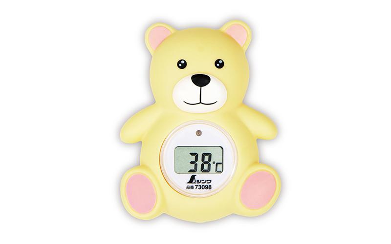 風呂用デジタル温度計  B  クマ