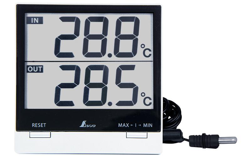 デジタル温度計  SmartC  最高・最低  室内・室外防水外部センサー