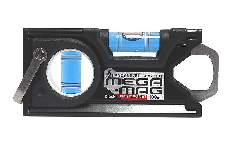 ハンディレベル  MEGA-MAG100㎜  黒  マグネット付