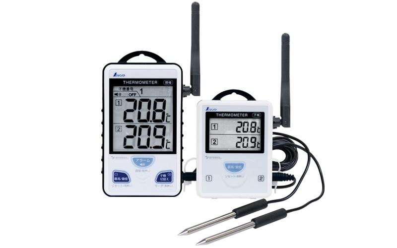 ワイヤレス温度計A 最高・最低 隔測式ツインプローブ 外部アンテナ型 - シンワ測定株式会社