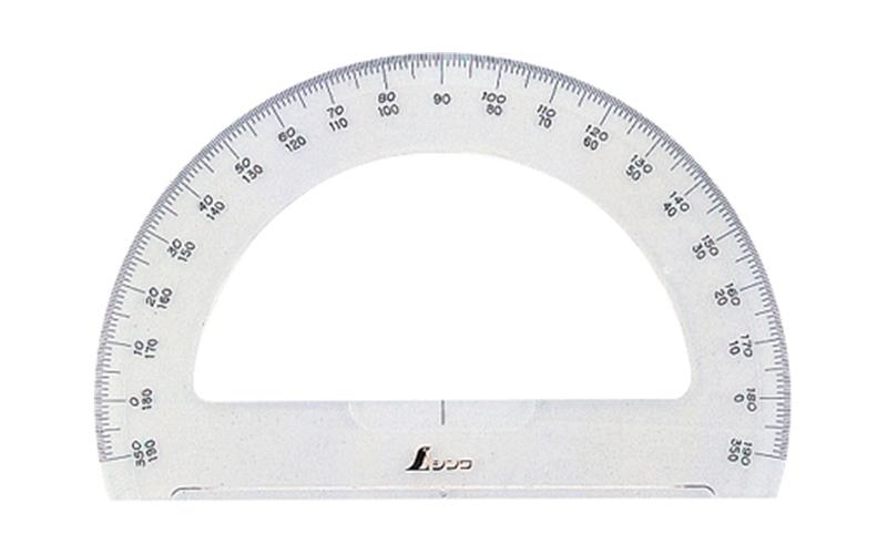 分度器  アクリル製  180°  15㎝  半円