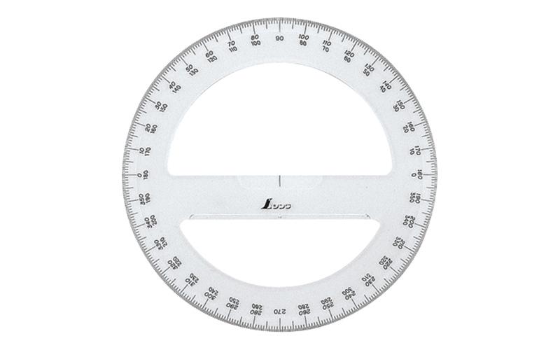 分度器  アクリル製  360°  15㎝  全円