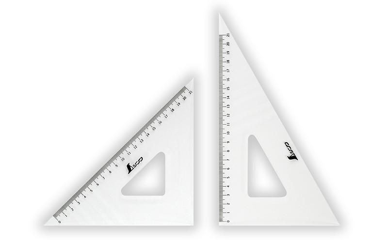 三角定規  アクリル製  24㎝  2枚組