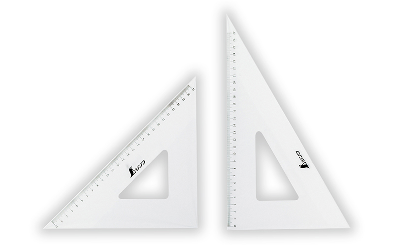 三角定規  アクリル製  30㎝  2枚組
