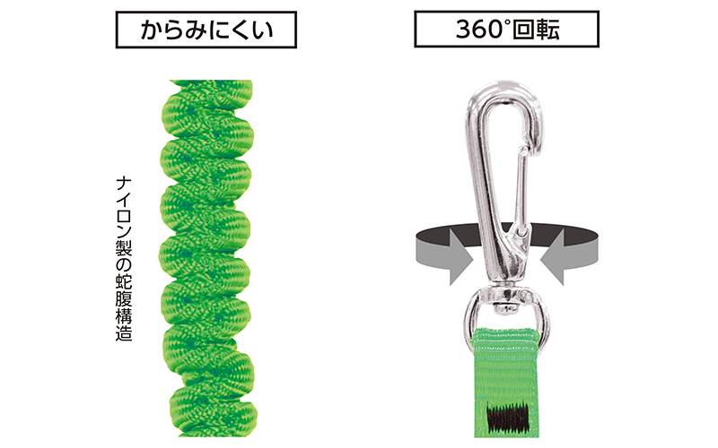 安全布製コード  2  A  グリーン