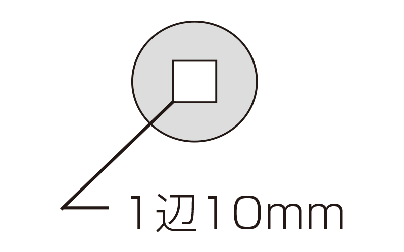 ルーペ  T-2  高倍率  スケール付  28㎜  10倍