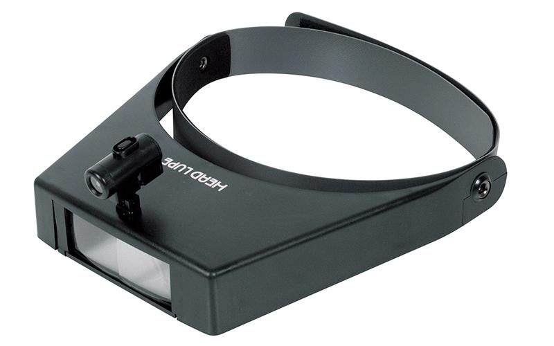 ルーペ  W-3  双眼ヘッドルーペ  1.5~3.0倍  ライト付