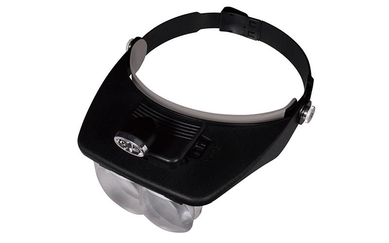 ルーペ  W-5  双眼ヘッドルーペ1.2~3.5倍  LEDライト付