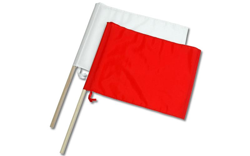 旗  工事用  ナイロン製  2本組  小