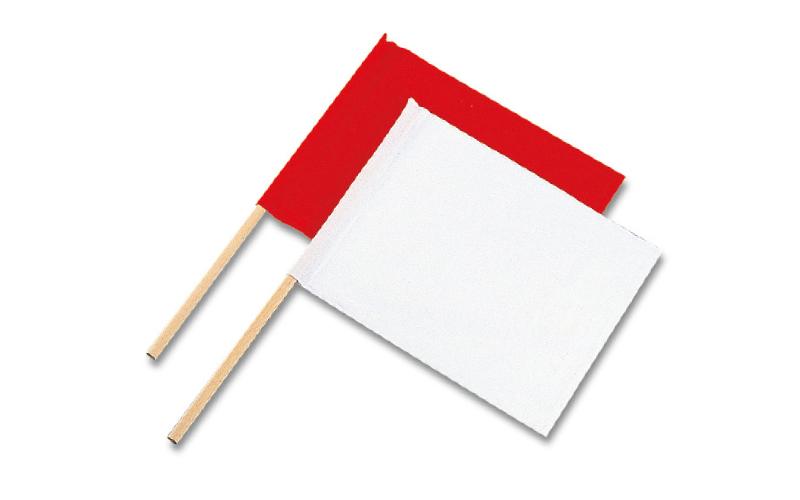 旗  工事用  布製  2本組  小