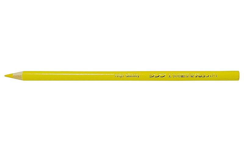 工事用  鉛筆型クレヨン  黄  3本入