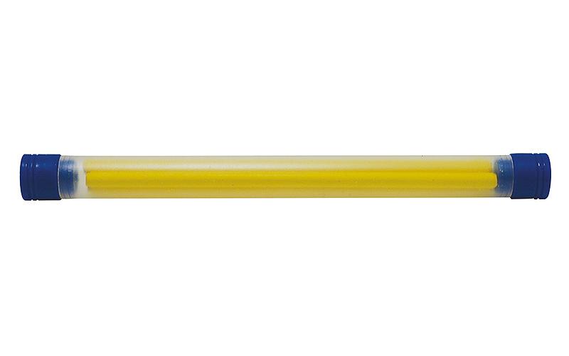 消耗品  替芯  工事用  ノック式クレヨン  4.0㎜  黄  4本入