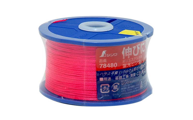 ポリエステル水糸  リール巻  太  0.8㎜  270m  蛍光ピンク