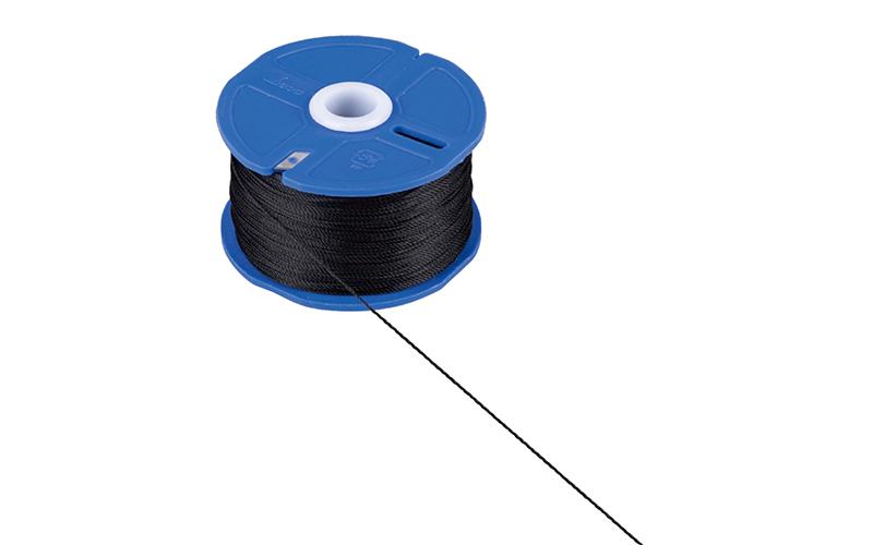 ポリエステル水糸  リール巻  太  0.8㎜  270m  ブラック