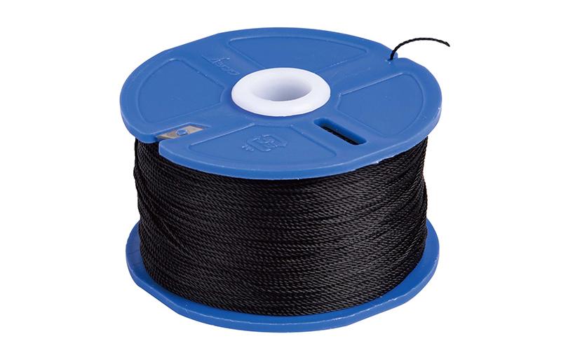 ポリエステル水糸  リール巻  極太1.2㎜  120m  ブラック