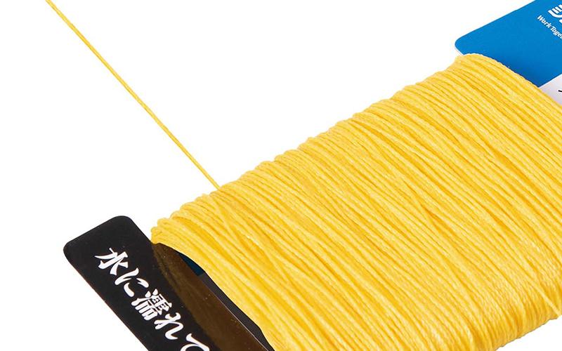ポリエチレン水糸  カード巻  極太  1.2㎜  100mイエロー