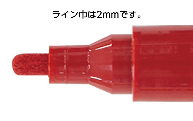 工事用  ペイントマーカー  中字  丸芯  赤  10本入